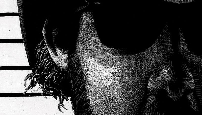 Dave Arcari by Steve Carroll - closeup 2