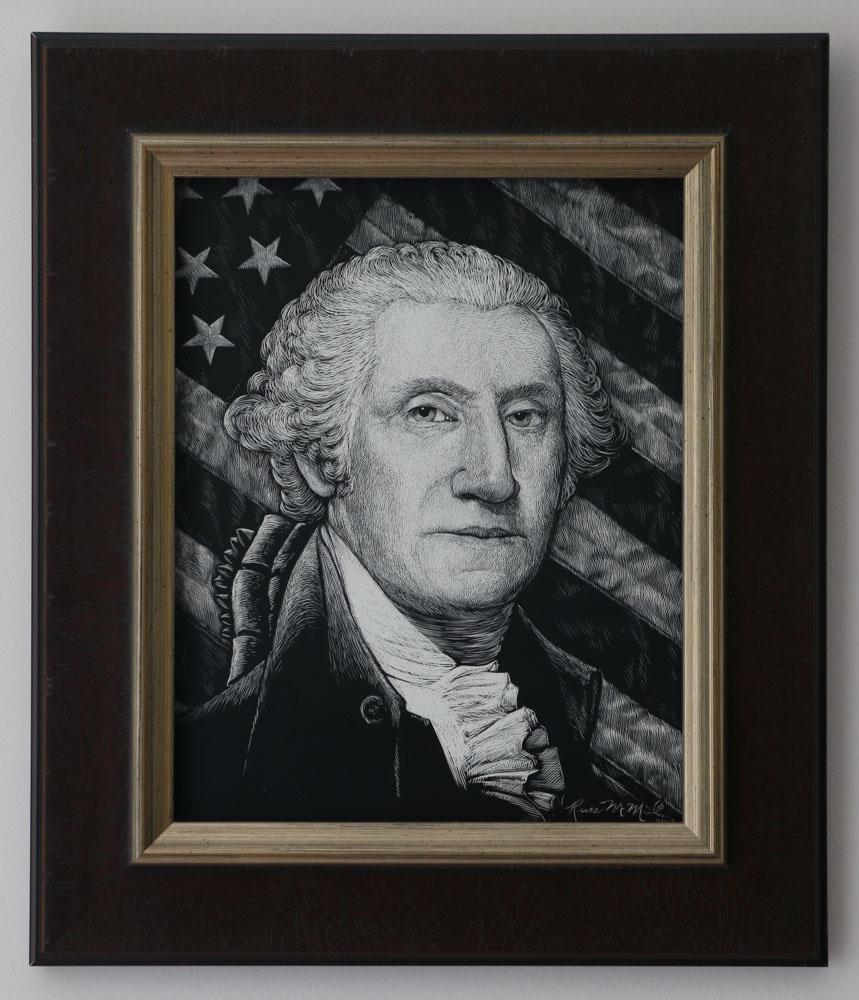george-washington-with-flag-framed